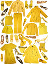 Clothing yellow Arkivfoton