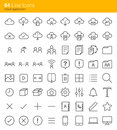 Cloud application icons Royalty Free Stock Photo