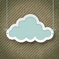 Cloud as retro sign grunge background Royalty Free Stock Photos