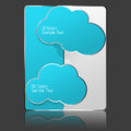 Cloud banner blue and white design Royalty Free Stock Photo