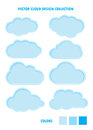 Cloud blue collection bundle of clouds to use in any design web designed base on art by using illustrator cs clean design fow web Royalty Free Stock Photo