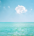 Cloud in blue sky over sea white Stock Images