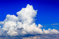 Cloud in blue sky before sunset Royalty Free Stock Photo