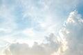 Cloud and bluesky beautyful clear Stock Photography