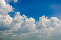 Cloud and bluesky white on summer holidays Royalty Free Stock Photography