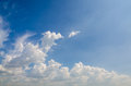 Cloud and bluesky white on summer holidays Royalty Free Stock Images