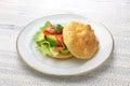 Cloud bread ( no carb bread ) sandwich Royalty Free Stock Photo