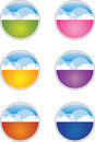 Cloud Buttons / Icons Stock Photography