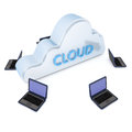 Cloud computer Royalty Free Stock Photography