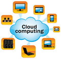 Cloud computing. Royalty Free Stock Photos