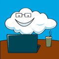 A Cloud Computing Royalty Free Stock Photography