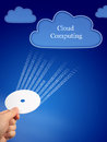 Cloud computing. Royalty Free Stock Photography