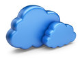 Cloud computing. 3D Icon isolated Royalty Free Stock Photography