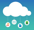 Cloud Computing abstract illustration Royalty Free Stock Photo