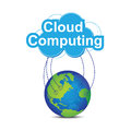 Cloud computing around the world Royalty Free Stock Photo