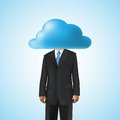 Cloud computing business concept Stock Photos