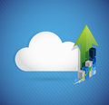 Cloud computing business concept illustration design over white Stock Photo