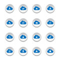 Cloud computing buttons collection of Royalty Free Stock Photography