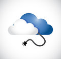 Cloud computing cable connection illustration design over a white background Stock Photography