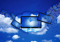 Cloud computing concept Stock Photography