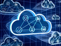 Cloud computing concept d render Stock Photography