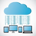 Cloud computing concept design background Stock Image