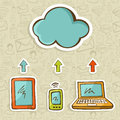 Cloud computing concept diagram Royalty Free Stock Image