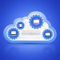 Cloud computing concept on different electronic devices Stock Images