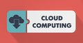 Cloud Computing Concept in Flat Design. Stock Photos