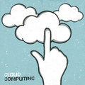 Cloud computing concept illustration Royalty Free Stock Photo