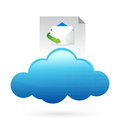 Cloud computing concept mail concept Stock Image