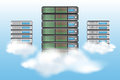 Cloud computing concept with servers Stock Image