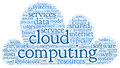 Cloud computing concept in word tag cloud Stock Photos