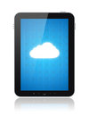 Cloud Computing Connection on Apple Ipad Stock Image