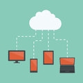Cloud computing connections and networking concept Stock Images