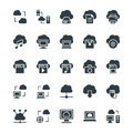 Cloud Computing Cool Vector Icons 1 Royalty Free Stock Photo
