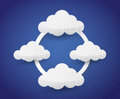 Cloud computing cycle illustration design over a blue background Stock Photo