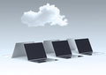 Cloud computing d sign on laptop computer as concept Stock Images