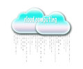 Cloud computing data rain Royalty Free Stock Photography