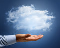 Cloud computing or dreams and aspirations concept