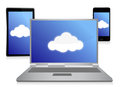 Cloud computing electronic concept Royalty Free Stock Image