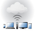 Cloud Computing electronic wifi Concept Royalty Free Stock Photography