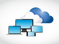 Cloud computing electronics illustration design over a white background Royalty Free Stock Photos