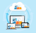 Cloud computing experience this image is a vector file representing a internet concept Stock Image