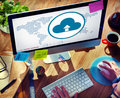 Cloud Computing Globalization Connection Technology Concept Royalty Free Stock Photo