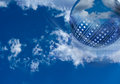 Cloud computing high tech background image Royalty Free Stock Image