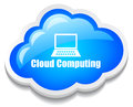 Cloud computing icon Stock Image