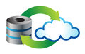 Cloud computing icon Stock Photography