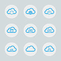 Cloud Computing Icon Set Royalty Free Stock Photo