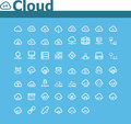 Cloud computing icon set of the simple related icons Stock Photos
